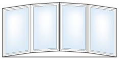 Shapes and Styles of Replacement  Windows - Alcor Home Improvement of West Michigan - Bow